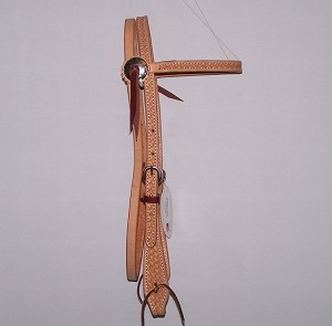 Basket Tooled Brow Band Headstall Paddle End Retail $64.95