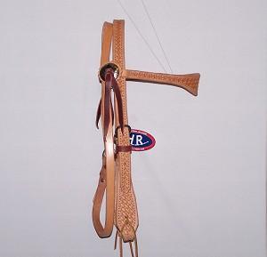 Scalloped Basket Natural Cowboy Headstall Retail $89.95