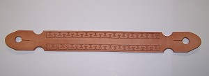 Hand Tooled  Running W Mecate Slobber Strap Retail $29.95