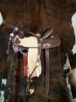 Barrel Racer Chocolate w/Rodeo Drive Conchos(saddle only) Retail $2110.00