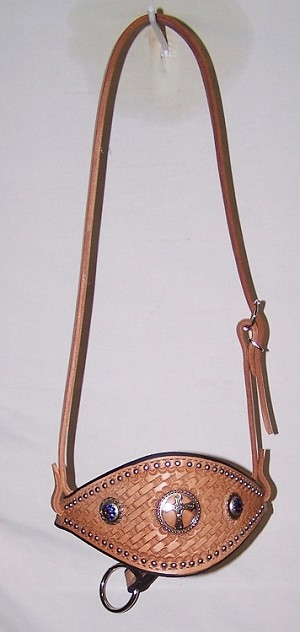 Bronc Noseband Hand Tooled Basket  Retail $74.95