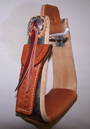 Slanted Wood Galvanized  Stirrup Retail $99.95