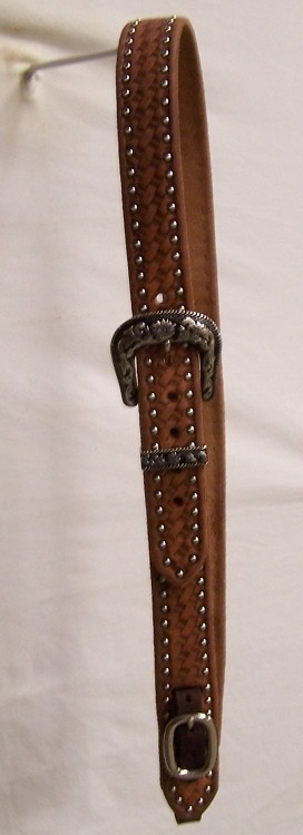"1 1/2"" No Ear Headstall Basket Tooled And Dotted Retai l$ 99.95"