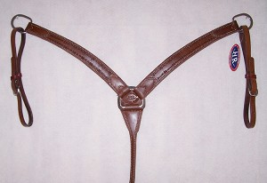 "1 1/2 "" Breast Collar Barb Wire Tooled Retail $96.95"