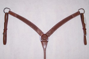 "1 1/2  "" Breast Collar  Basket Tooled Retail $96.95"