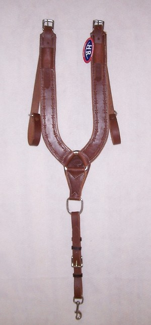 Trail Pulling Collar Tooled Barb Wire Retail $159.95