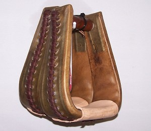 "3"" Rawhide Covered Overshoe Stirrup Retail $109.95"