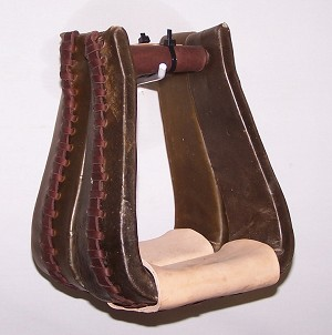 "3"" Rawhide Covered Roper Stirrup Retail $79.95"