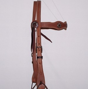 Tri Scalloped Headstall With Conchos Retail $89.95