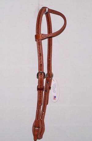 Sliding One Ear Headstall Tooled Barb Wire With Quick Change Ends Retail $64.95