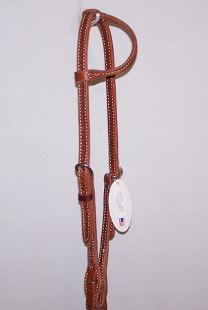 Sliding One Ear  Headstall Basket Tooled Quick Change Ends Retail $64.95