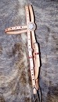 D&S Brow Band Hs. Dotted W/Crystals Retail $74.95