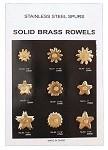 25-8400 Solid Brass Rowel Card Retail $ 22.50