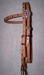 Crystal  Cross Concho Brow Band Headstall Retail $109.95