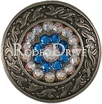 Rodeo Drive Concho Antique Silver Capri Ab 1