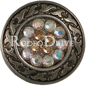 "Rodeo Drive Concho 1 "" Antique Silver Champagne Ab Retail $12.00"