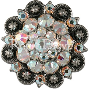"Rodeo Drive Conchos Antique Silver AB 1 1/2 "" Retail $25.00"