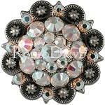 Rodeo Drive Conchos Antique Silver AB 1 1/2