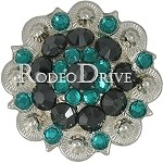Rodeo Drive Bright Silver Teal 1