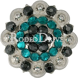 "Rodeo Drive Bright Silver Teal 1 1/2"" Concho Retail $25.00"