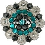 Rodeo Drive Bright Silver Teal 1 1/2