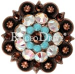 Rodeo Drive Concho Copper Topaz Turquoise 11/2